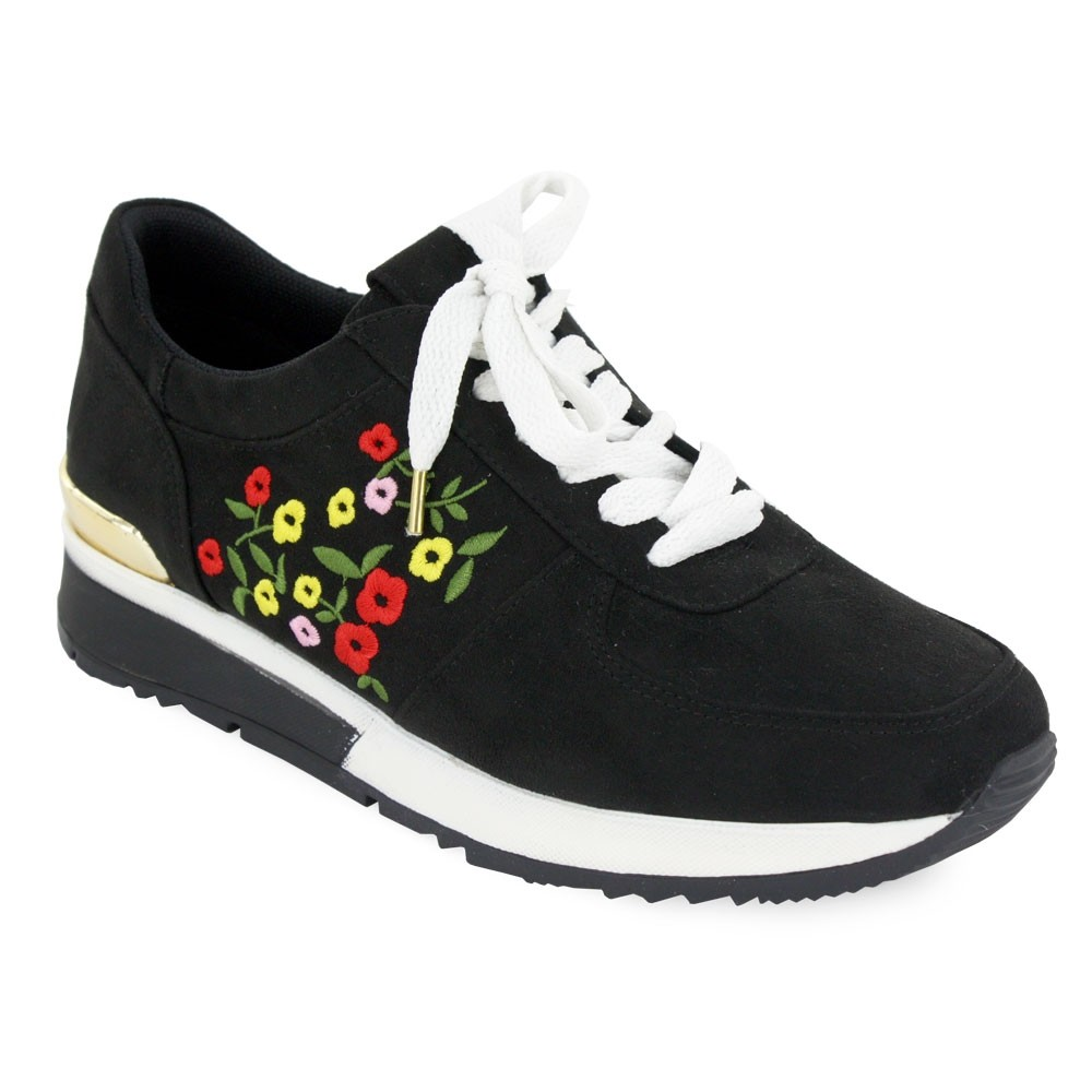 Smash-It Tennis Runner de Cintas Ante Negro Floral