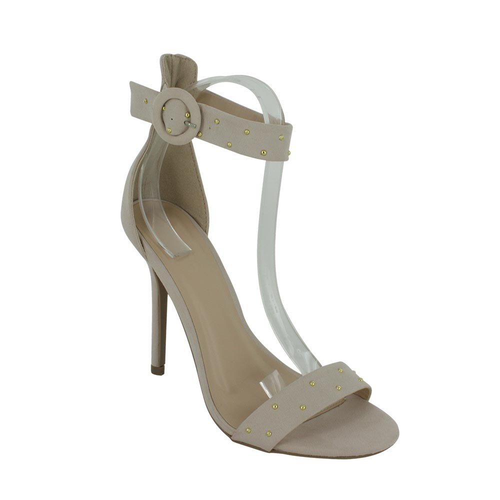 Billie Sandalia Color Beige Alto 10 cms.